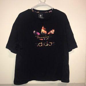 Adidas floral flowy shirt